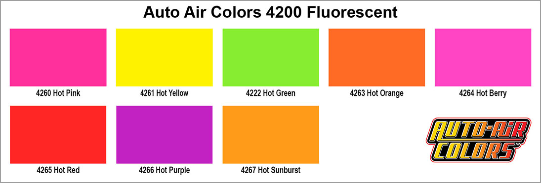 autoair 4200 fluorescent colors