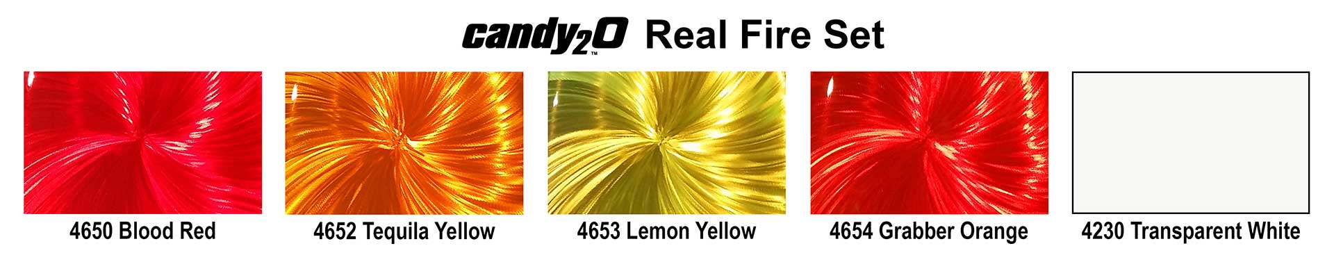 4970 Real Fire Set color chart